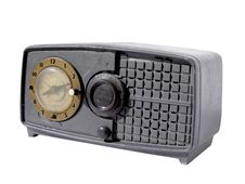 Free Old Clock Radio Royalty Free Stock Image - 18556406