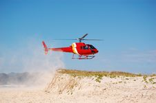 Free Brazil Coast Guard Helicopter Royalty Free Stock Image - 18556576