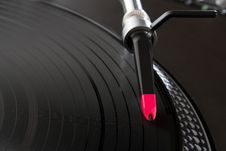 Turntable Playing Vinyl Record With Music Royalty Free Stock Photo
