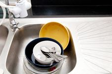 Free Unwash Dish Stock Images - 18558694