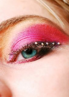 Free Female Eye With Make Up Royalty Free Stock Images - 18558909
