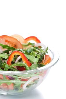 Free Healthy Green Salad Stock Image - 18559291