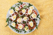 Free Healthy Salad With Eggs Royalty Free Stock Photography - 18559527