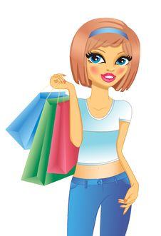 Free Girl With Shopping Royalty Free Stock Photography - 18559557