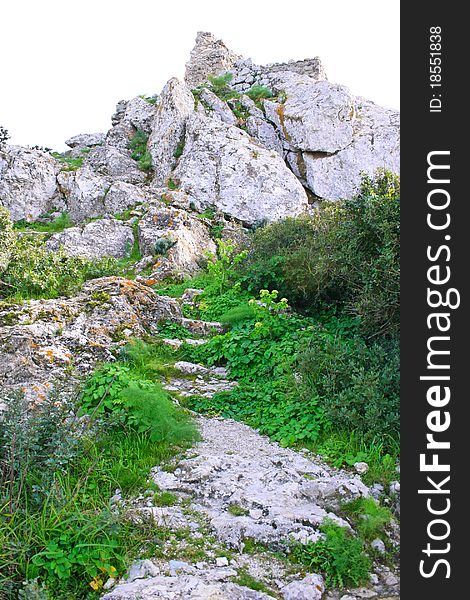Kantara castle path