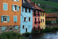 Free Alsatian Colorful Houses  By The River Royalty Free Stock Photography - 18566657