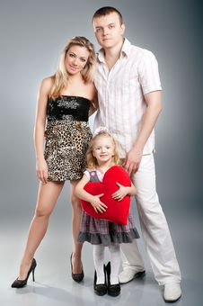 Portrait Of A Happy Family Standing Together Stock Images