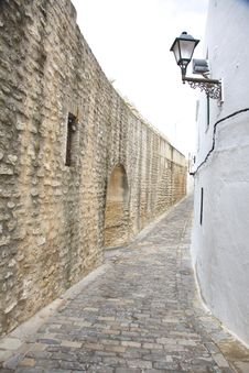 Free Great Wall Street At Vejer Village Royalty Free Stock Photos - 18560588