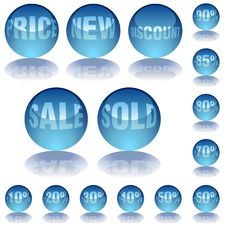 Aqua Glass Prices Stock Image