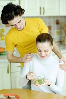 Free Couple Ot Kitchen Stock Photos - 18560813