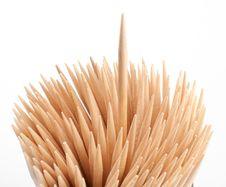 Toothpick Macro Royalty Free Stock Photography