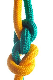 Free Rope With Marine Knot Stock Image - 18561381