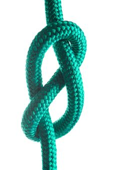 Free Rope With Marine Knot Stock Image - 18561451