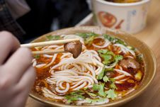 Braised Pork Intestines Noodles From China Royalty Free Stock Images