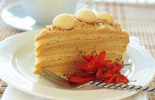 Free Caramel Medovik Cake Stock Image - 18561621