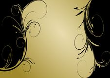 Free Golden Floral Background Royalty Free Stock Photo - 18561875