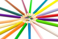 Free Color Pencils Royalty Free Stock Image - 18563196