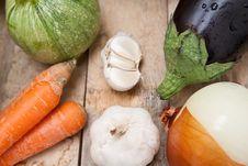 Free Fresh Vegetables On Wooden Desk Stock Photo - 18563790