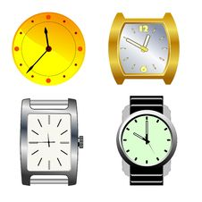Free Set Of Watches Stock Photography - 18564942