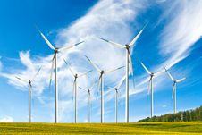 Free Landscape With Windmills Royalty Free Stock Photos - 18565168