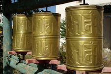 Free Prayer Wheels, Mongolia Royalty Free Stock Images - 18567029