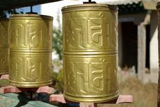Free Prayer Wheels, Mongolia Royalty Free Stock Photos - 18567038