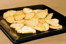 Crinkle Crisps Royalty Free Stock Images