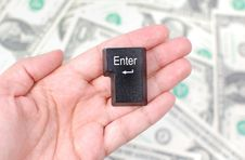 Free Enter Key And Money Stock Images - 18567954
