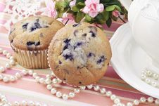 Free Blueberry Muffins Royalty Free Stock Image - 18568026