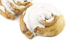 Free Cinnamon Rolls With Icing Royalty Free Stock Photos - 18568118