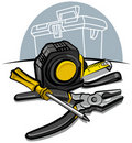 Free Screwdriver, Pliers And Tape Measure Stock Images - 18571864