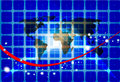 Free World Map Network Background Stock Photos - 18572943