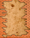 Free Brick Wall Grungy Frame Stock Image - 18577521