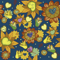 Free Seamless Floral Pattern Royalty Free Stock Photo - 18578065