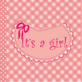 Free Baby Arrival Announcement For Girl Royalty Free Stock Image - 18579066