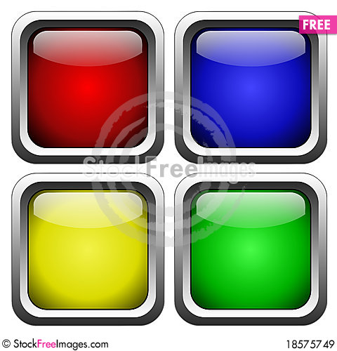 Free Glass Buttons Royalty Free Stock Images - 18575749