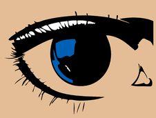 Free Blue Eye Royalty Free Stock Photography - 18570637