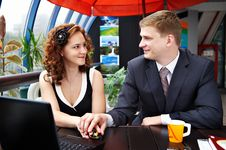 Free Young Man And Woman Looking Each Others Royalty Free Stock Photos - 18570758
