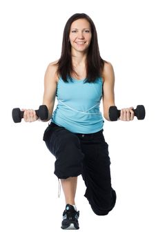 Free Girl Is Working Out Royalty Free Stock Image - 18571046