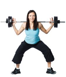 Girl Is Working Out Stock Photography