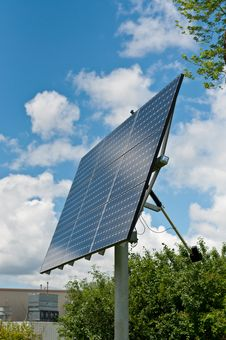 Free Renewable Energy - Photovoltaic Solar Panel Array Stock Images - 18572004