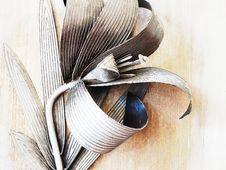 Free Metallic Flower. Abstraction Stock Photos - 18572453