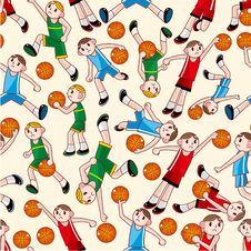 Free Seamless Basketball Pattern Stock Photo - 18572510