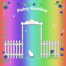 Free Rainbow Fairy Garden Royalty Free Stock Photos - 18572738
