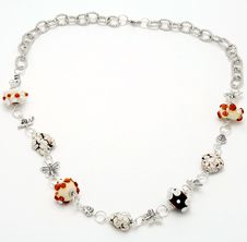 Necklace Handmade From Murano Glass Royalty Free Stock Photo
