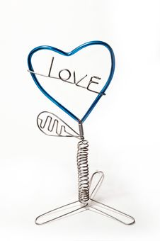 Wire Bend To Be The Tree Of Love Stock Images
