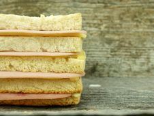 Free Big Toast With Ham And Cheese Stock Photos - 18573523