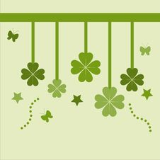 Cute St. Patrick S Day Card Royalty Free Stock Images