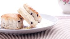 Free Scones And Clotted Cream Stock Photography - 18575312