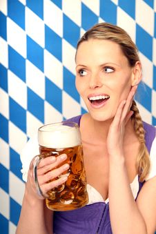 Free Woman With Beer Stock Photos - 18576693